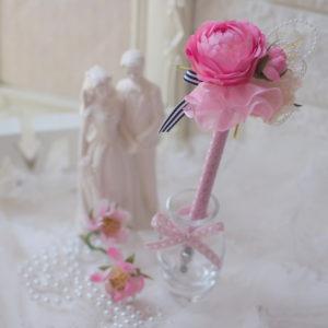 フラワークラウンケーキ、花冠、アーティフィシャルフラワー、ケーキスタイルの花冠、初心者でも簡単に出来る花冠、ブライダル、ブートニア、認定講座、フラワーペン
