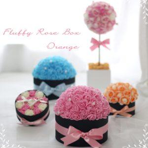 Fluffy Rose Box,フラッフィーローズボックス,ふわふわローズのBOXアレンジメント