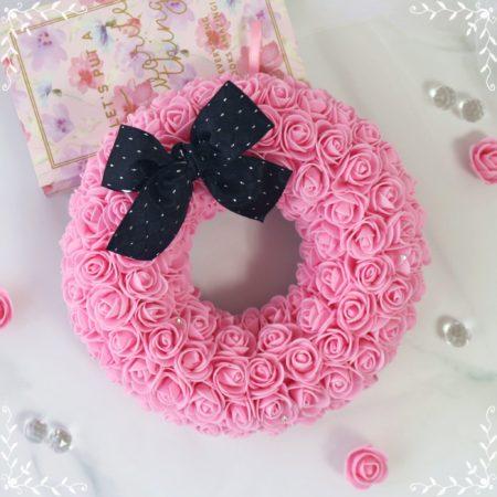 Fluffy Rose Box Wreath