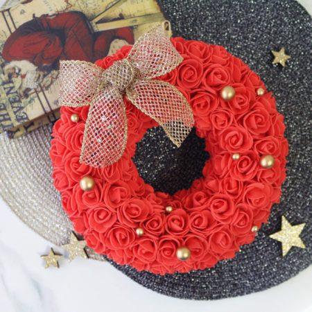 Fluffy Rose Box Wreath-Christmas